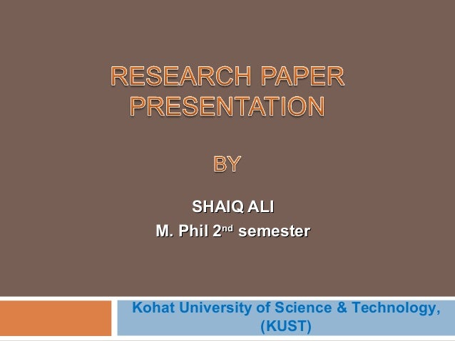 research paper presentation shaiq
