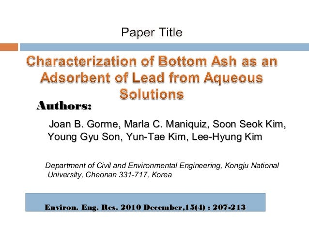 presenting scientific research paper Paper the introduction states the main topic and previews the structure of the  paper  major references (eg science  presentation of all other criteria.