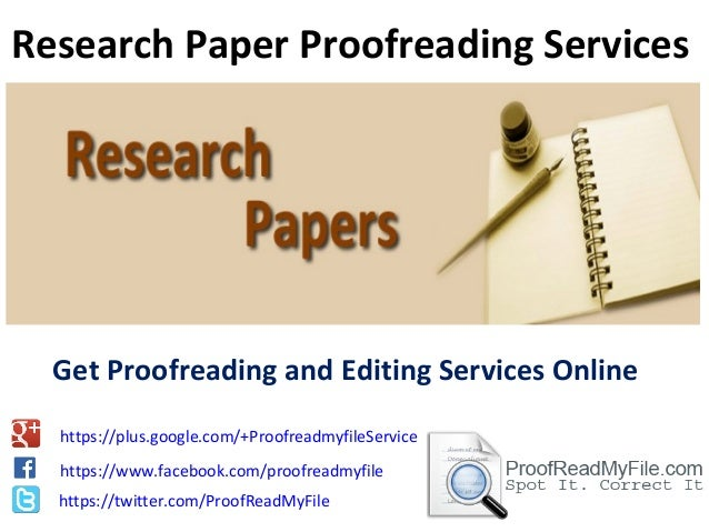 Online proofreading services editing