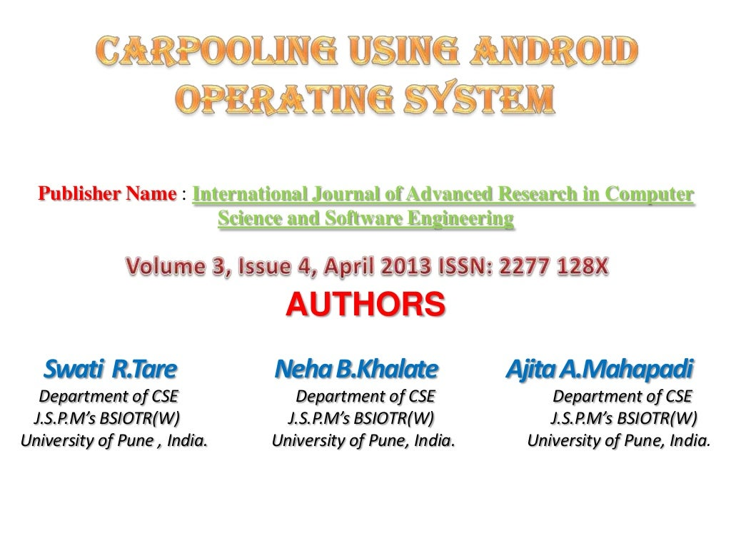 Research paper on operating system