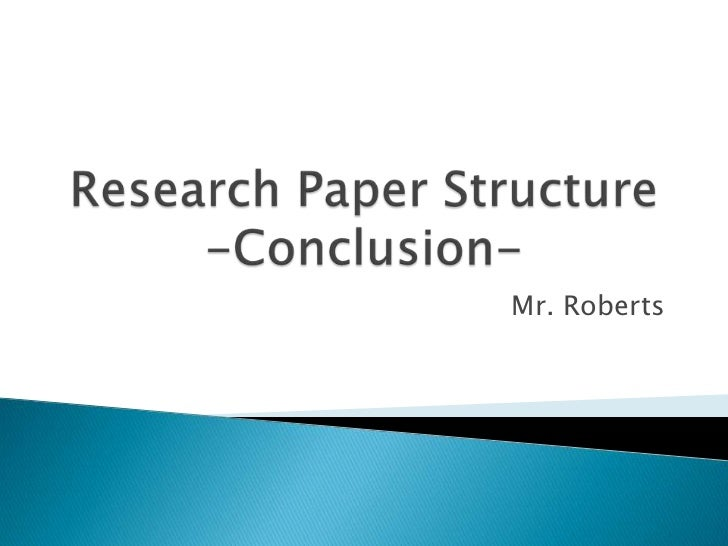 writing a conclusion to a research paper In the conclusion to your report, you do a number of important things: summarize the main points you made in your introduction and review of the literature.