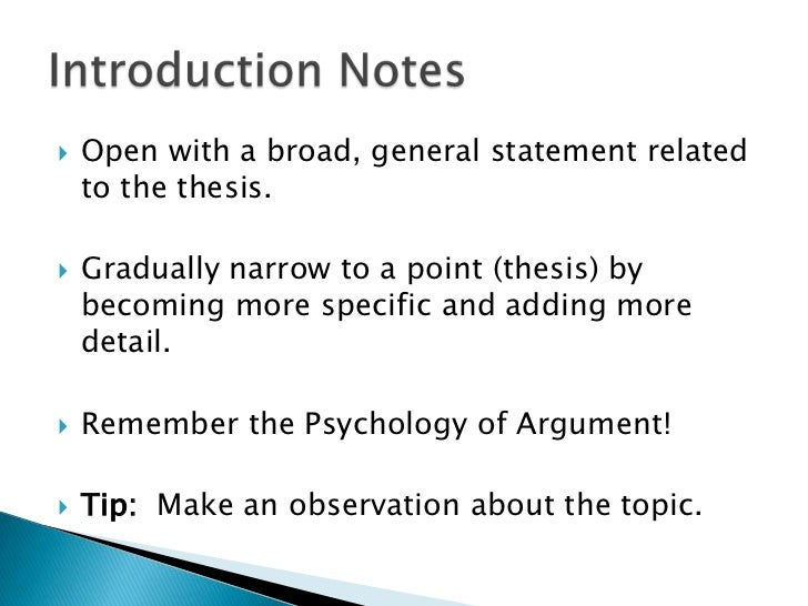 Psychology topics for definitional argument essays