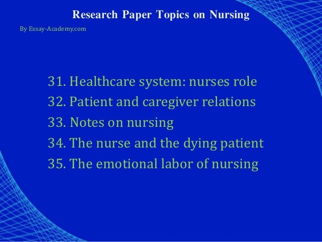 Beyond the Bedside: The Changing Role of Today's Nurses
