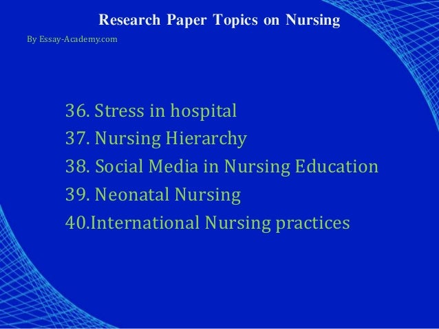 nursing research papers sale Critiquing nursing research through the nursing and midwifery council (nmc) code of professional conduct (nmc, 2004) nurses supply high standards of care to.