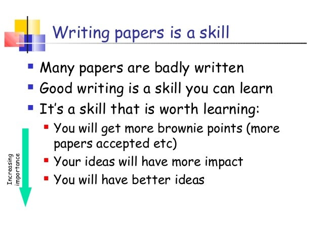 How to write a research paper simon peyton jones