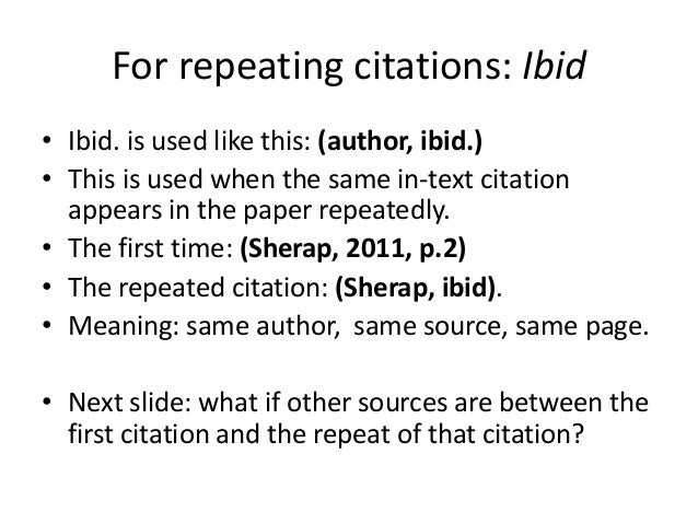 What Does Ibid Mean In A Research Paper - image 4