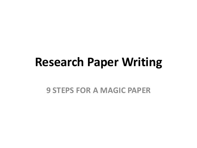 strategies for writing a research paper