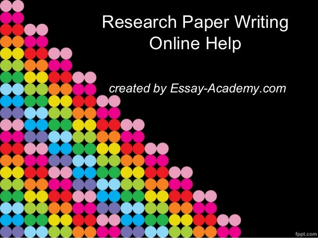 Online research paper writers