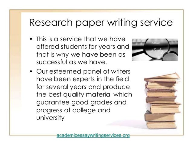 Reserch paper writing service