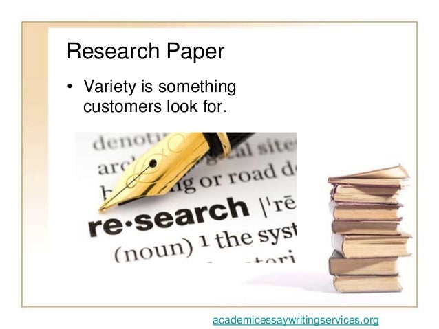 Research paper writing service