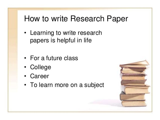 Research and writing services paper