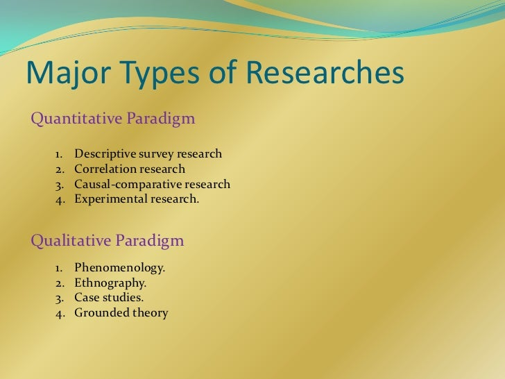 paradigm in research Competing paradigms and health research alex broom and evan willis introduction from newspaper and television documentaries to web sources and acade.