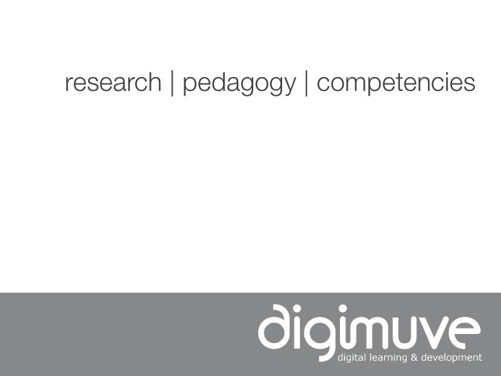 research | pedagogy | competencies