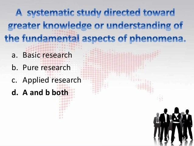 basic research mcqs