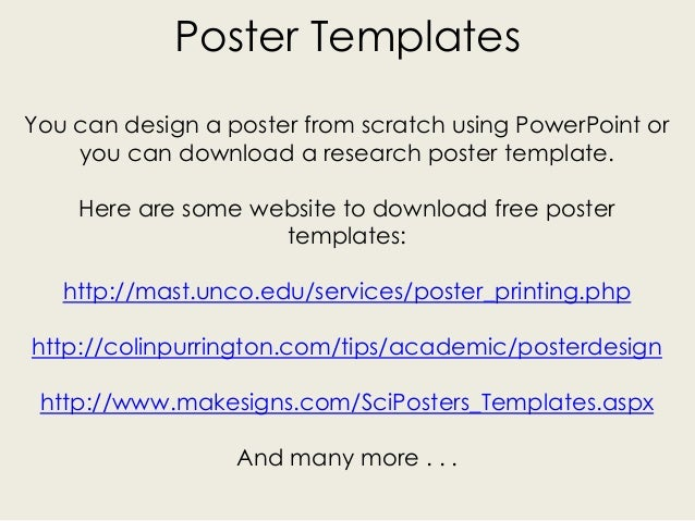 Research poster creation for Mast powerpoint poster template