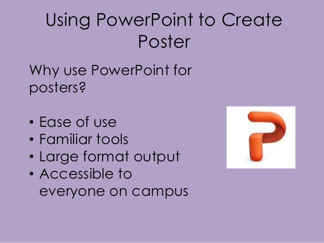 how to make a research poster in powerpoint