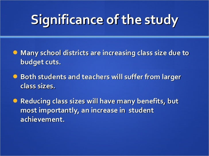 Class Size Matters     Praxis Teacher Research Research paper on class size