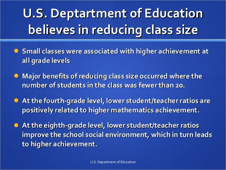 the benefits of the small class size Small class setting matters in higher education, benefits of small class size for college as you decide on college to continue your education after high school, one thing you should consider is the importance of a small class environment.