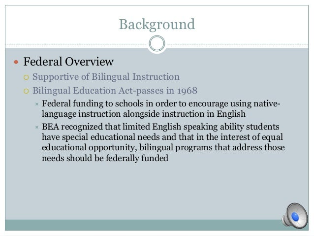 a discussion of the controversial concept of bilingual education Engl 514 presentation on bilingual education and english-only debates maybe being bilingual is good for our brains providing superiority in concept formation.