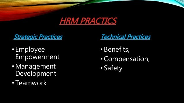 research papers on hr practices International journal of scientific & engineering research  of human resource management (hrm) practices on human resource management practices and.