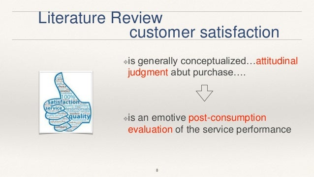 Literature review customer satisfaction
