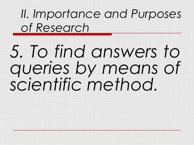 Preliminaries to Research