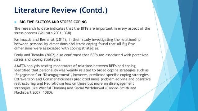 Literature Review, Occupational Stress, Stress Biology