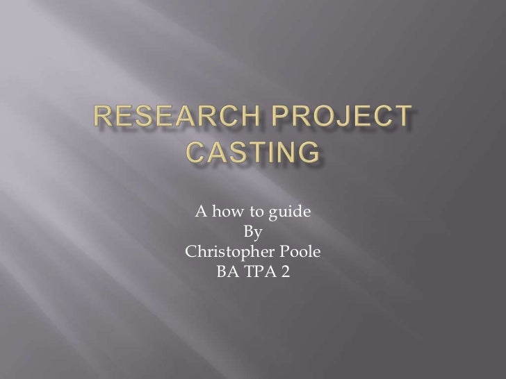 A how to guide       ByChristopher Poole    BA TPA 2