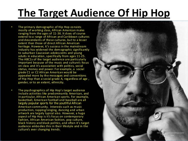 Hip-hop music and culture.