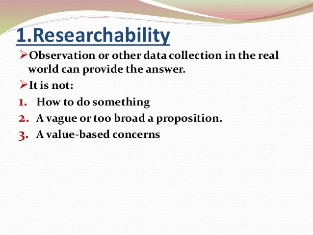 characteristics of a good problem statement Characteristics of a research problem research is the wheel that drives technological some of the fundamental characteristics of a good problem statement include.