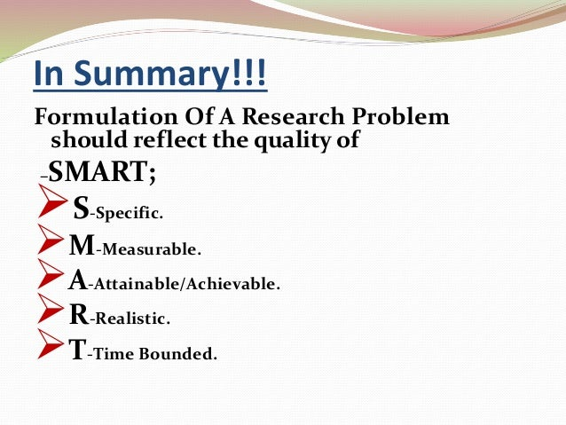 characteristics of a good research problem pdf
