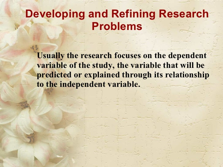 what are dependent and independent variables in a research paper Extraneous variables affecting the relationship between independent and dependent variables (research paper sample).