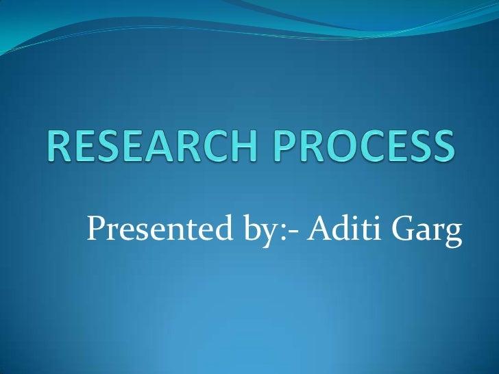 Presented by:- Aditi Garg