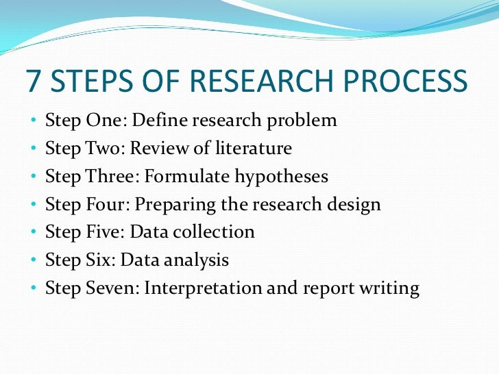 7 Steps To Write A Good Research Paper