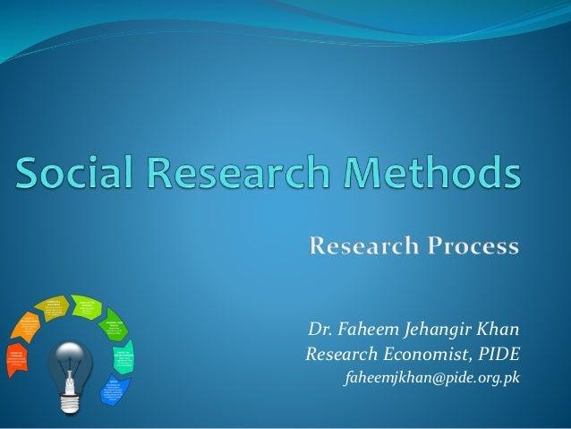 Dr. Faheem Jehangir Khan Research Economist, PIDE faheemjkhan@pide.org.pk
