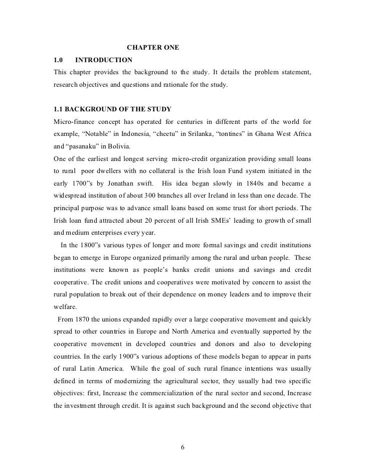 CHAPTER ONE1.0    INTRODUCTIONThis chapter provides the background to the study. It details the problem statement,research...