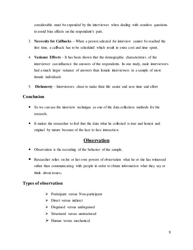 questionnaire sample for interview