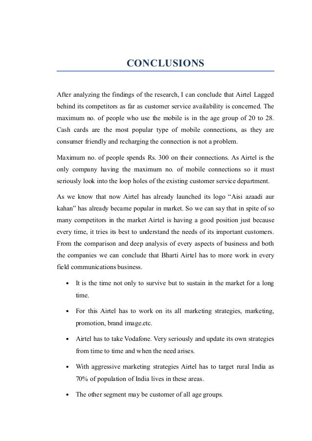 comparative customer satisfaction of airtel vodafone A comparative study on customer satisfaction with reference to vodafone and airtel in lucknow city.