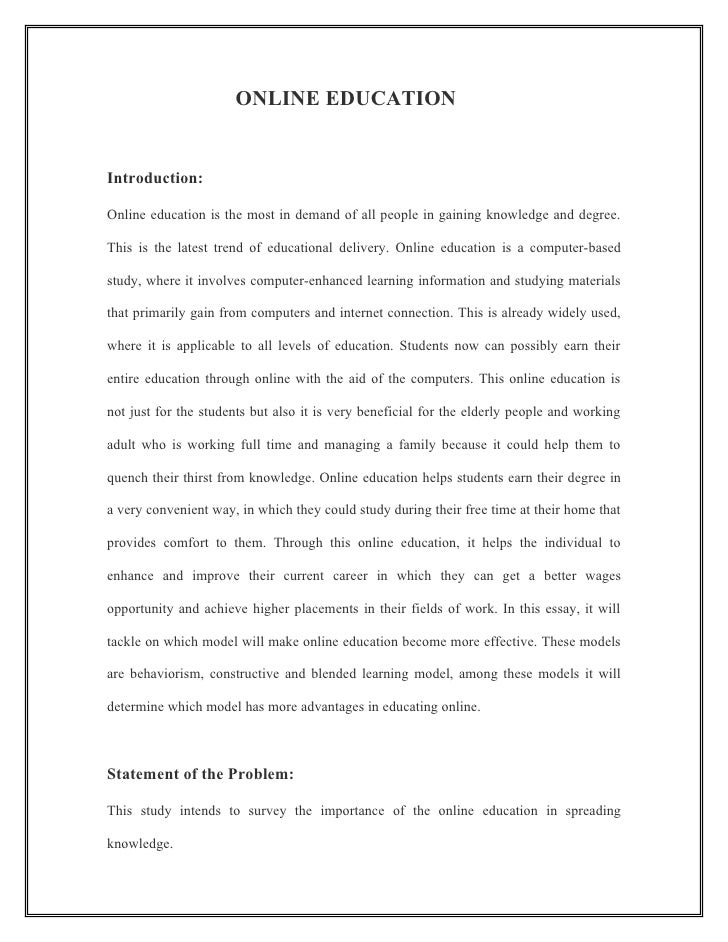 Short Essay On Online Education  Mistyhamel Essays About Online Education Professional User Manual Ebooks Thesis Statements For Argumentative Essays also Hiv Essay Paper  Essay For High School Students