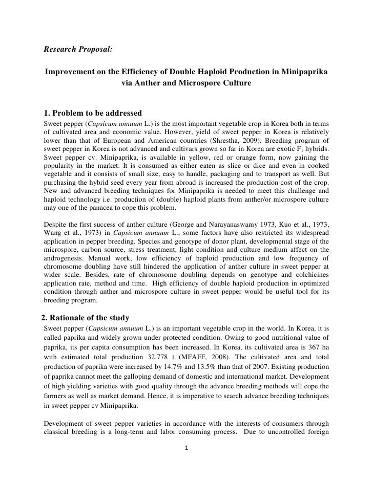 Example 1 good research proposal with