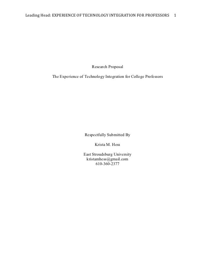 Leading	  Head:	  EXPERIENCE	  OF	  TECHNOLOGY	  INTEGRATION	  FOR	  PROFESSORS	  	  	  	  	  1	                          ...