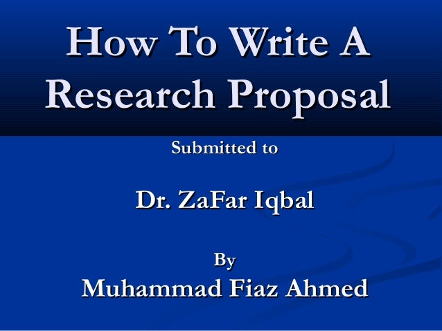 steps to write research proposal