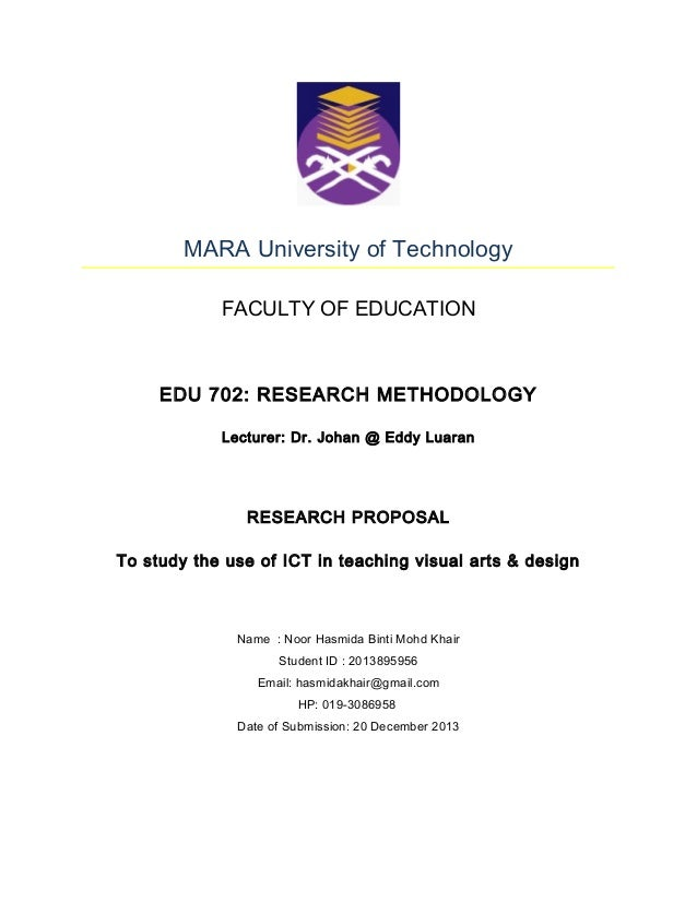 Master Thesis Proposal Cover Page