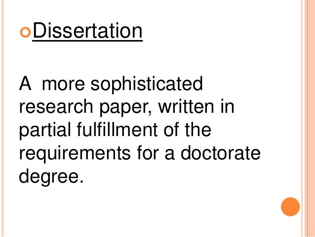 dissertation research process (suggestions for preparing a dissertation/thesis proposal) although all of these ideas may change in light of the research process or the final results and now that you have reviewed all of the elements of the research proposal.