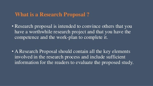 Research Proposal In Research Methodology