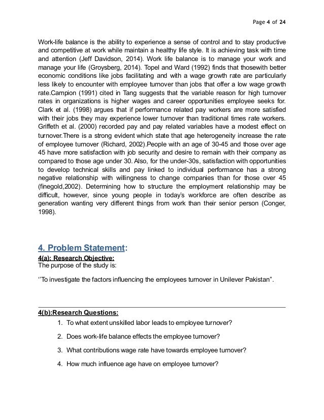 research proposal on employee turnover