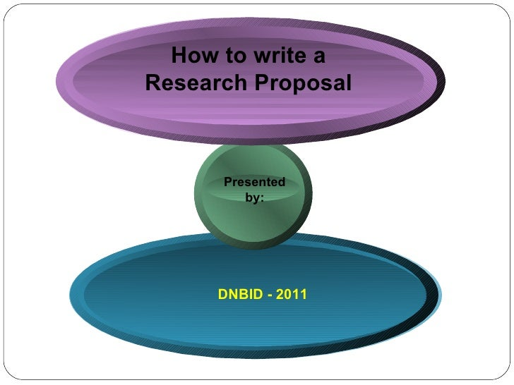 How to write a Research Proposal DNBID - 2011 Presented  by:
