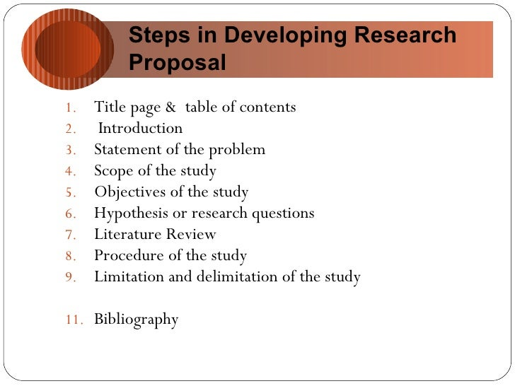 how to make objectives in research proposal