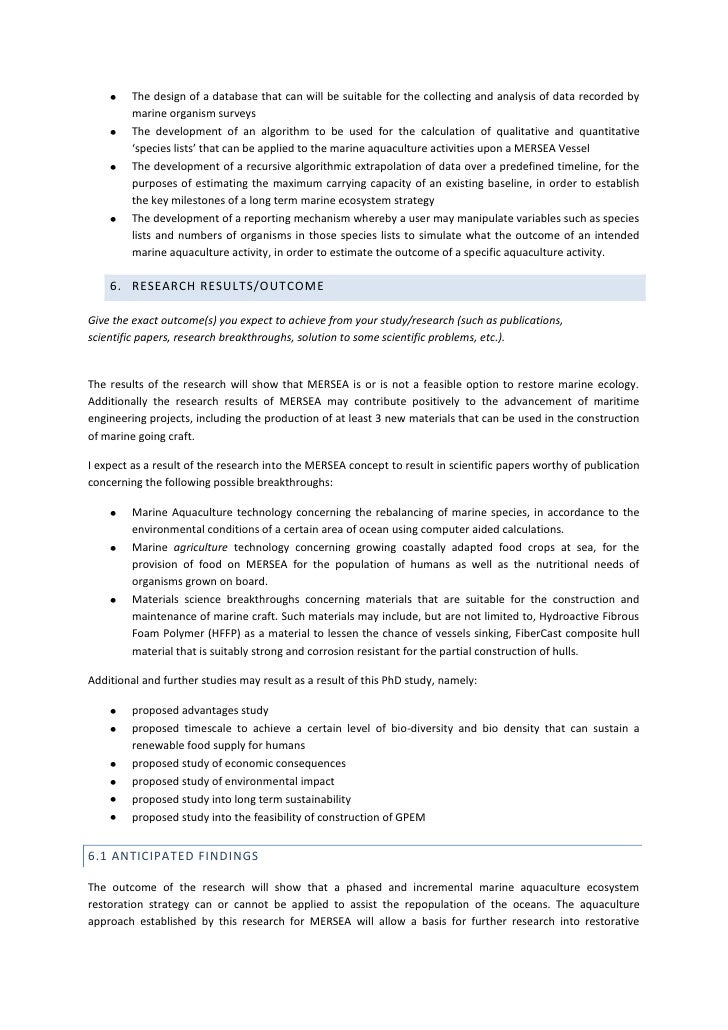 Phd Research Proposal Database
