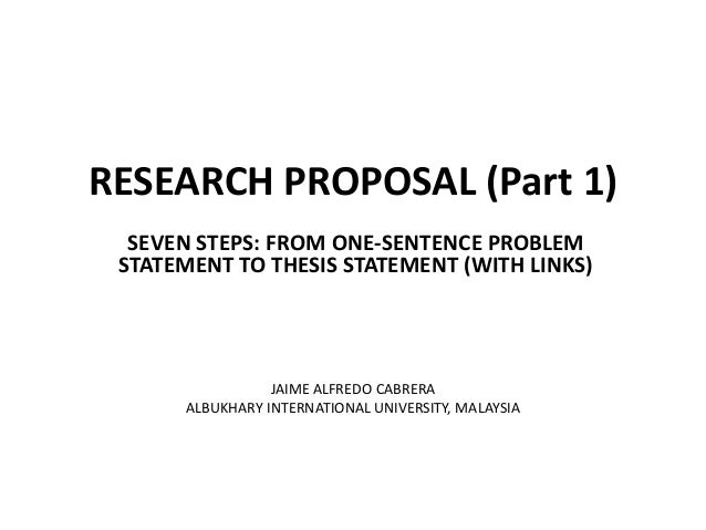 research proposal thesis statement